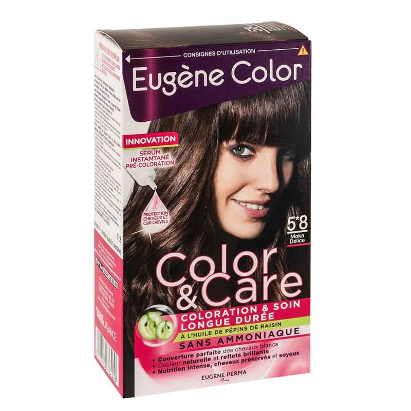 color care eugne color 58 moka dlice - Coloration Moka